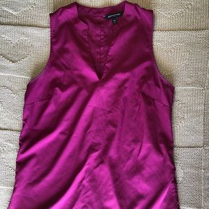 Banana Republic Magenta Sleeveless Blouse
